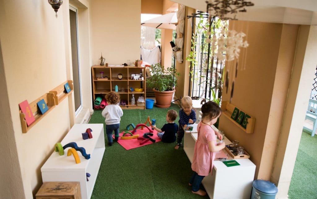 Montessori outdoor playroom