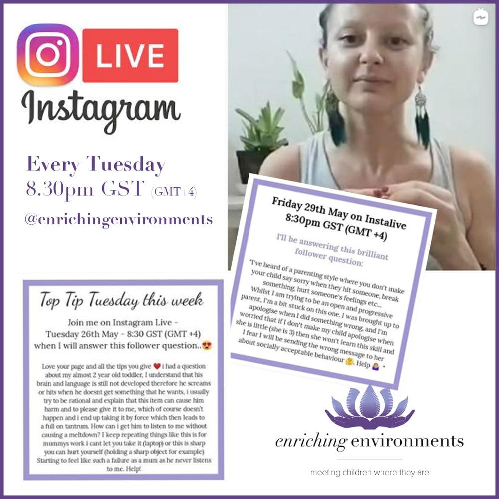 free Montessori instagram live