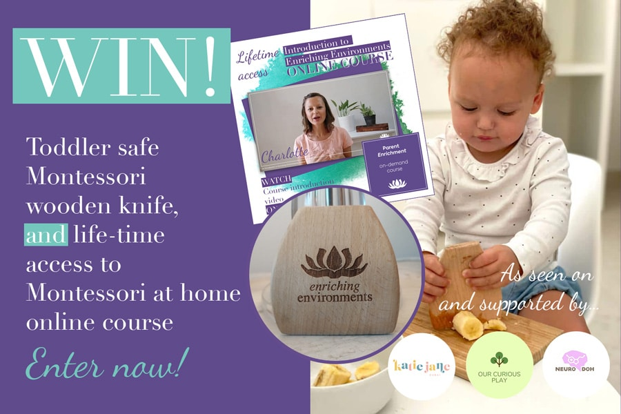 To celebrate the launch of Enriching Environments range of Montessori tools, toys and natural learning equipment, we are holding a giveaway!